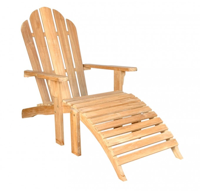 Charming Teak Adirondack Chairs In Cream For Outdoor Furniture Ideas