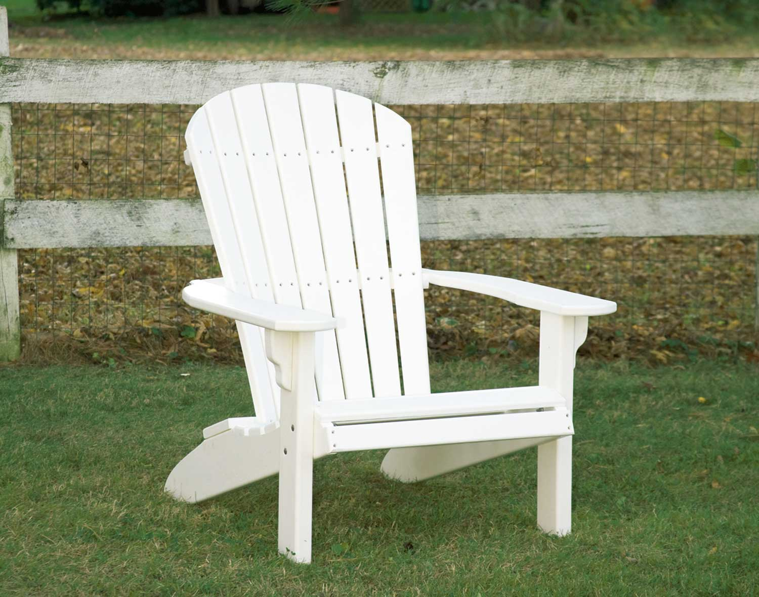 charming Teak Adirondack Chairs in white for patio decor ideas