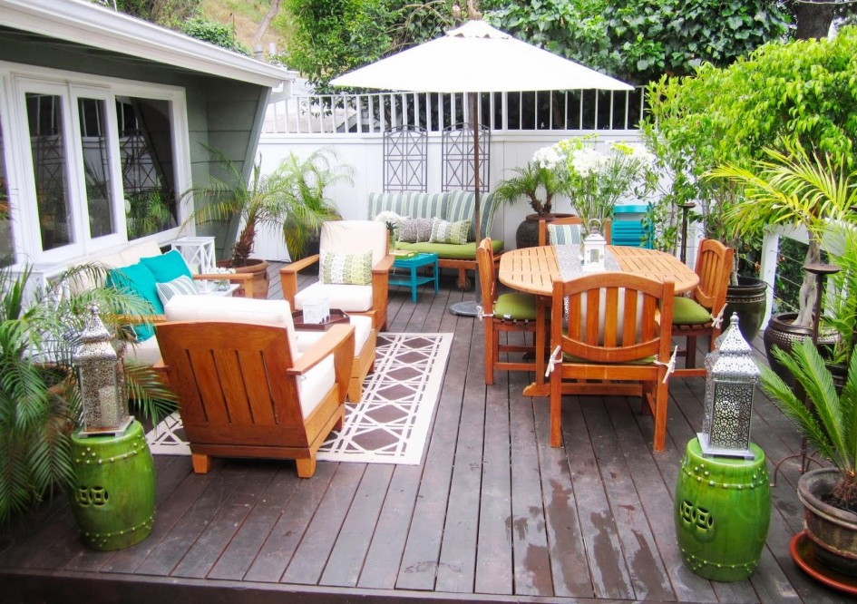 charming Teak Adirondack Chairs With cushion seat plus dining table sets for patio decor ideas