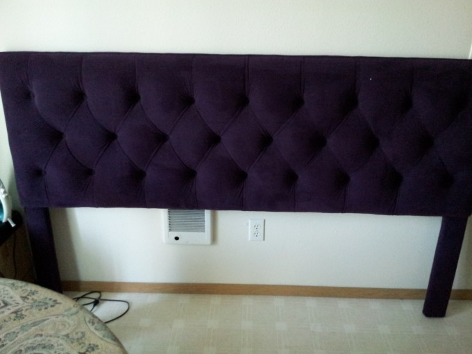 Charming Tufted Upholstered Headboards In Purple For Bed Decor Ideas