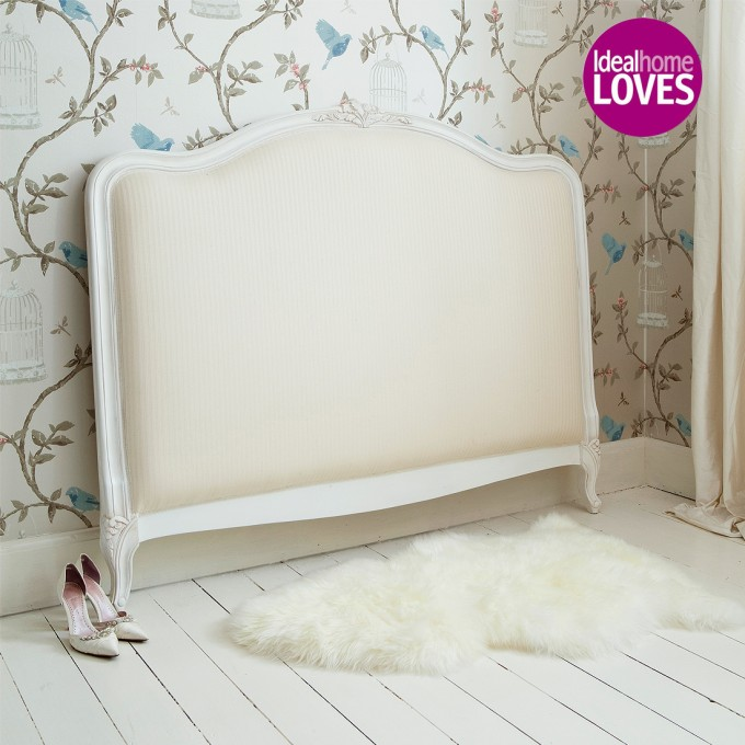Charming Upholstered Headboards In Cream For Bed Decor Ideas