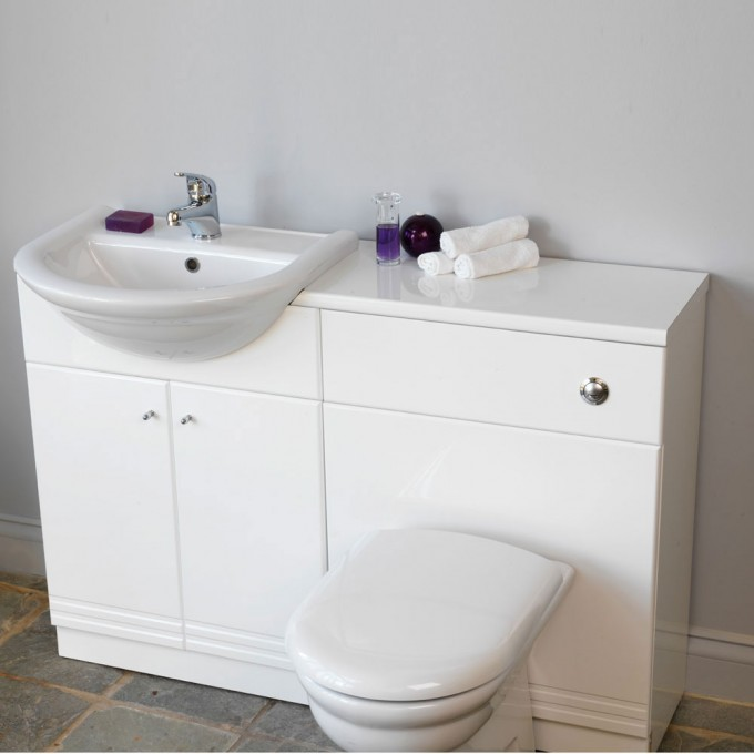 Charming White Bathroom Vanities With Tops And Single Sink And Faucet For Bathroom Furniture Ideas