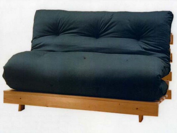 Cheap Futons In Black With Wooden Frame For Home Furniture Ideas