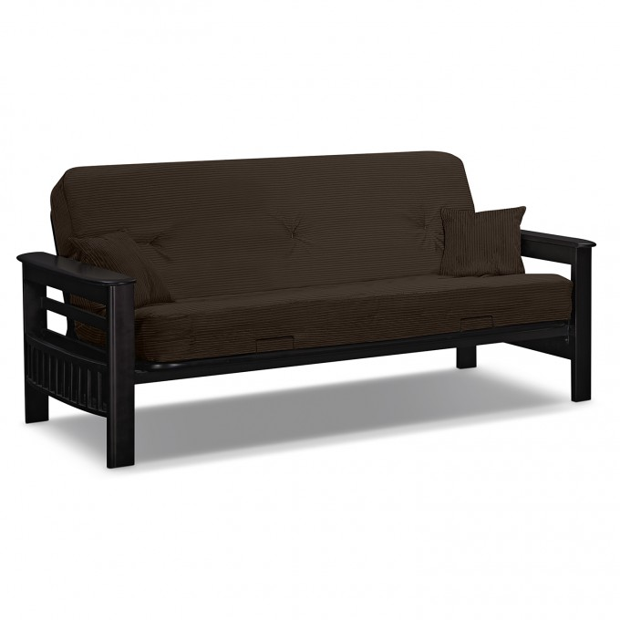 Cheap Futons In Brown For Home Furniture Ideas