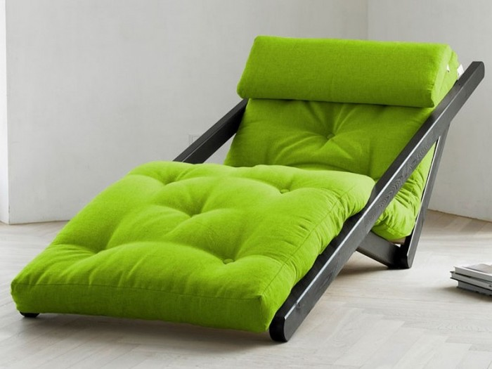 cheap futons in green with black metal frame in modern design for hoe furniture ideas