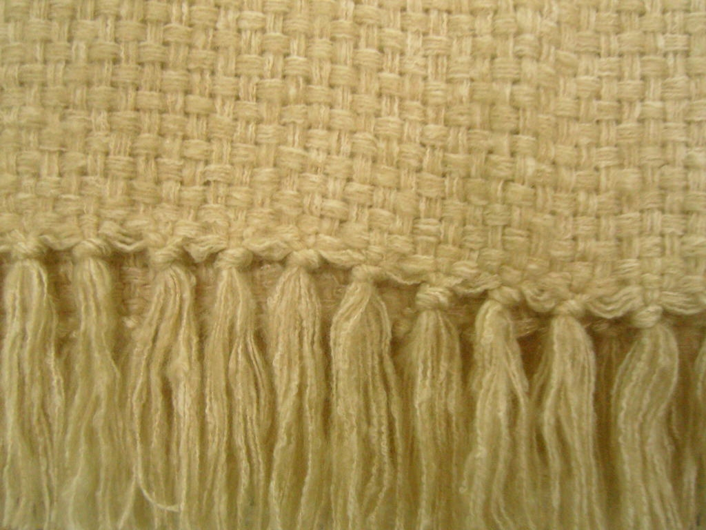 chenille blanket in cream for bedding ideas