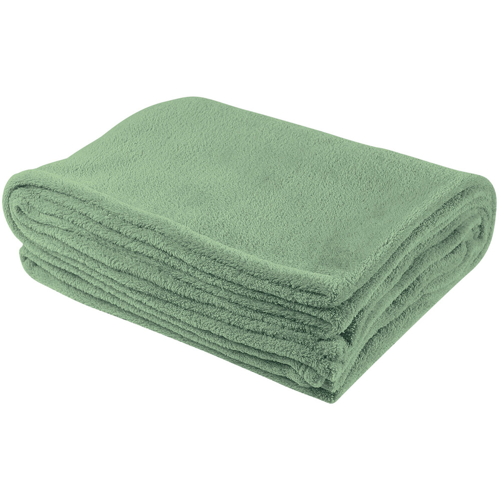 chenille blanket in solid green for blanket ideas