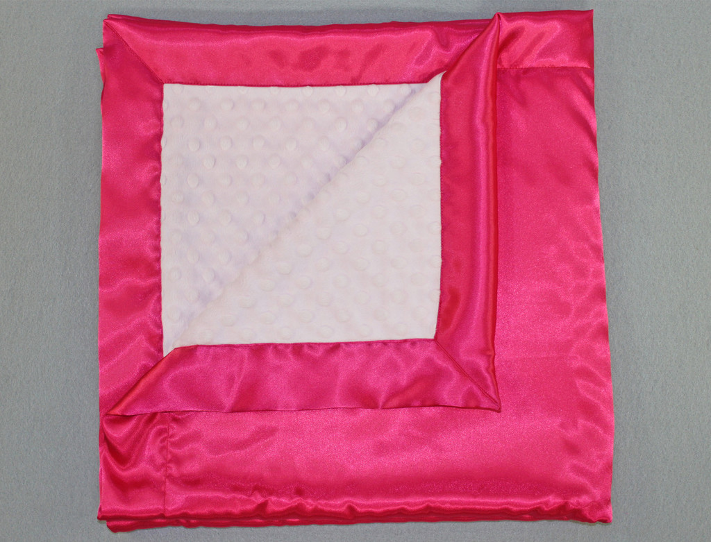 Chenille Blanket in solid pink silky and white for blanket ideas