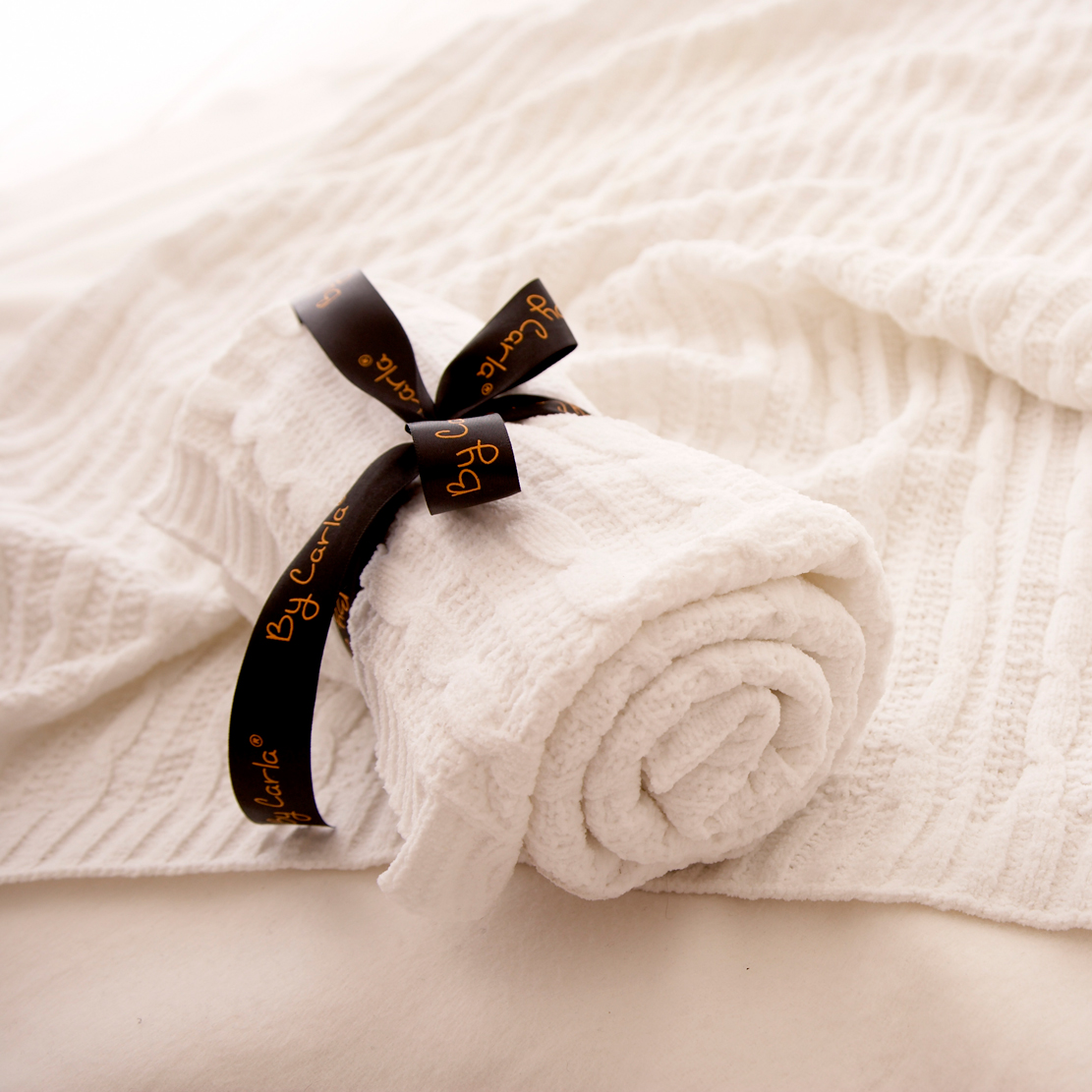 chenille blanket in solid white for blanket ideas
