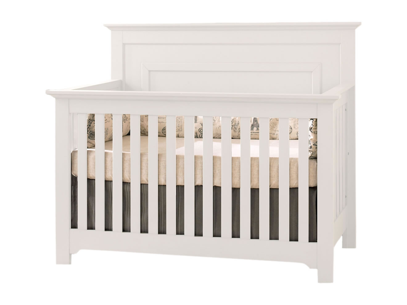 Chesapeake Lifetime Convertible Crib In White By Munire Crib
