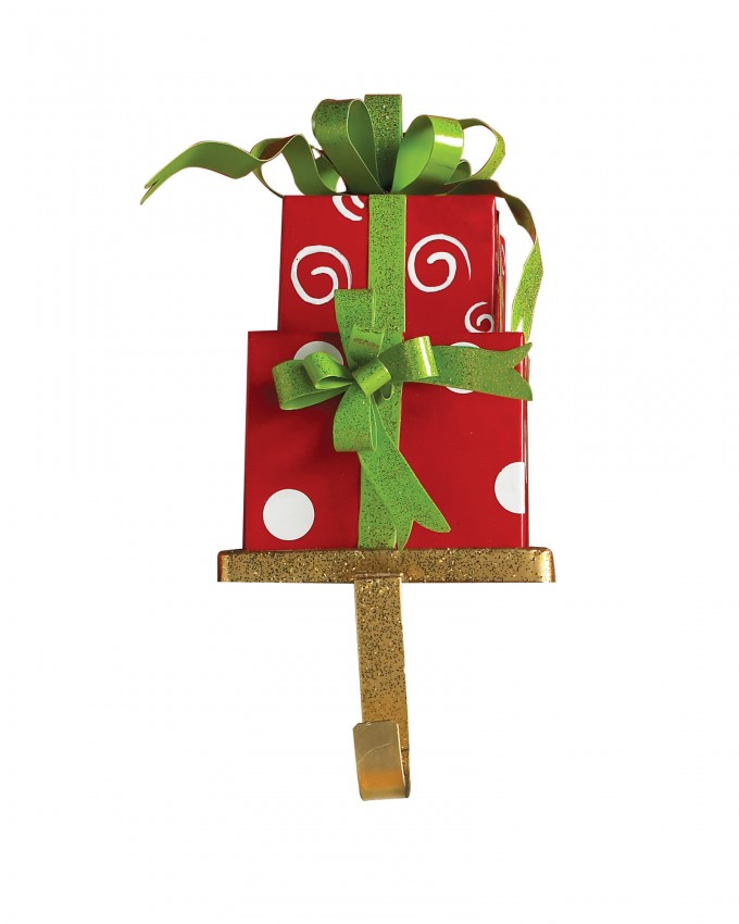 Chic Christmas Stocking Hanger In Gift Design For Christmas Decoration Ideas
