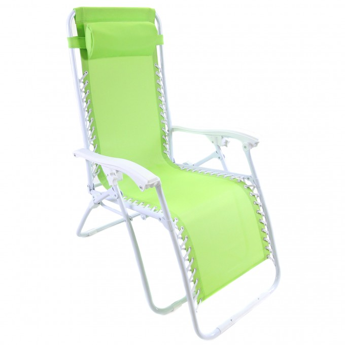 Chic Zero Gravity Chair With Green Seat And White Stand For Home Furniture Ideas