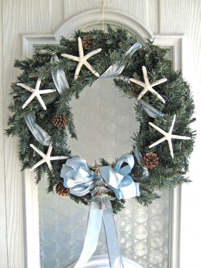 Christmas Seashell Wreath For Door Accessories Ideas