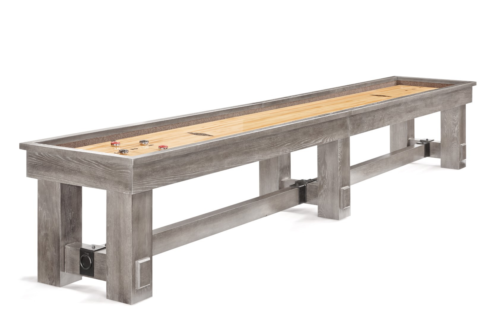 Cincinnati wheat wooden shuffleboard table for sale