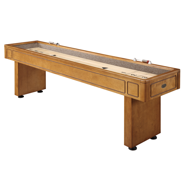 Classic Brown Wooden Shuffleboard Table For Sale