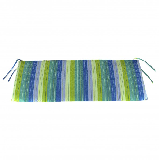 Colorful Stripped Sunbrella Cushions For Comfortable Bench Seat Ideas