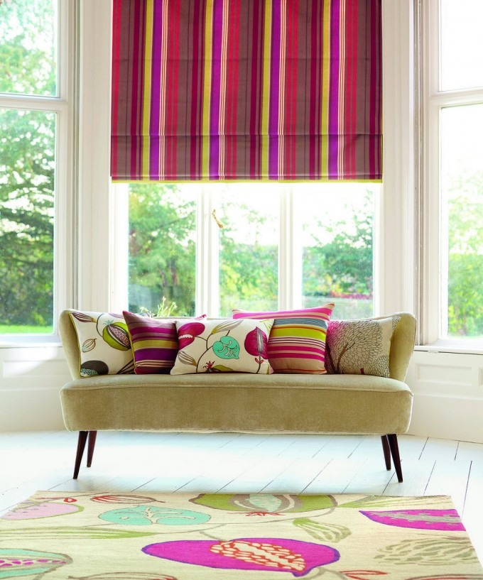 Colorful Surya Rugs On White Wooden Floor Plus Cream Sofa For Living Room Decor Ideas