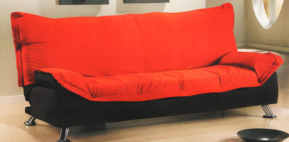 comfortable cheap futons in red and black for home furniture ideas