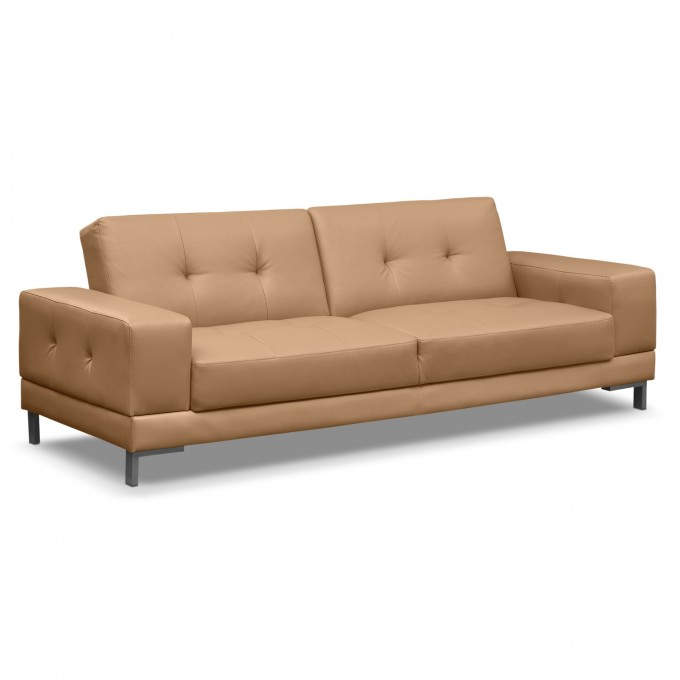 Comfortable Cream Leather Cheap Futons For Home Furniture Ideas