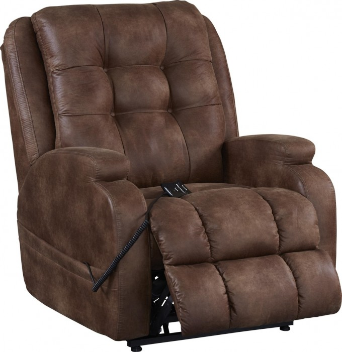 Comfortable Leather Power Lift Recliners In Dark Brown For Home Furniture Ideas