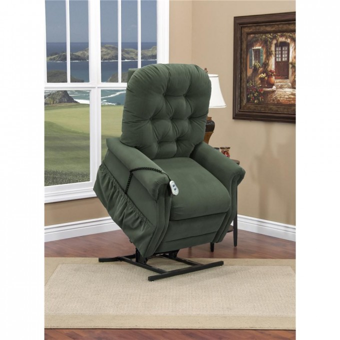 Comfortable Power Lift Recliners In Dark Olive Grey For Home Furniture Ideas