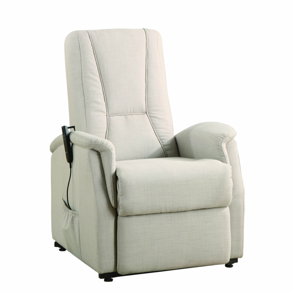 comfortable Power Lift Recliners in white with pocket for home furniture ideas
