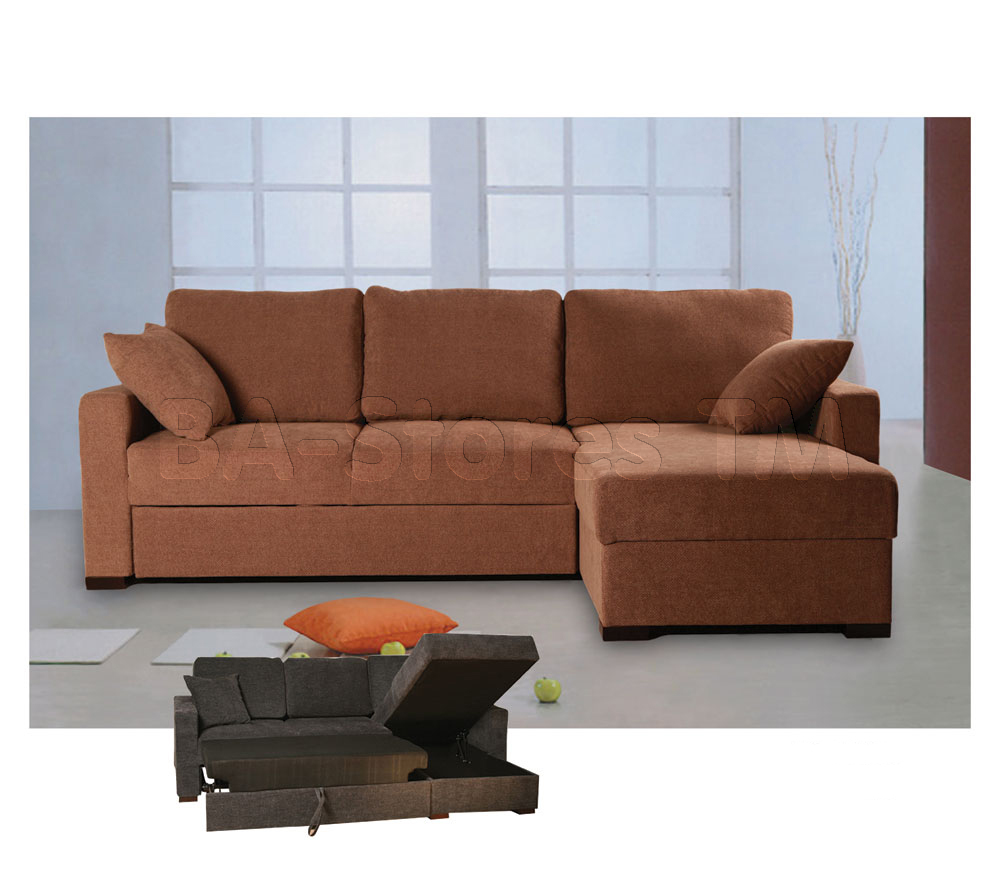 Comfortable Sectional Sleeper Sofa In Brown For Home Furniture Ideas