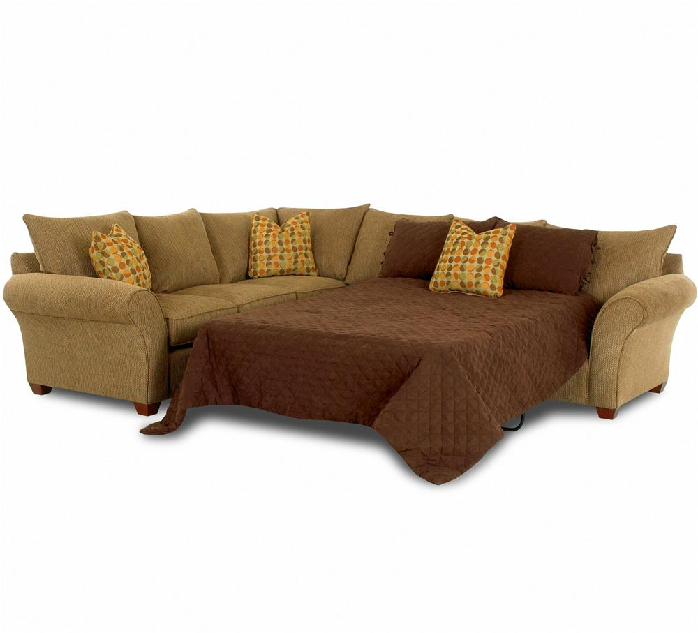 Comfortable Sectional Sleeper Sofa In Tan And Brown Plus Cushion For Home  Furniture Ideas