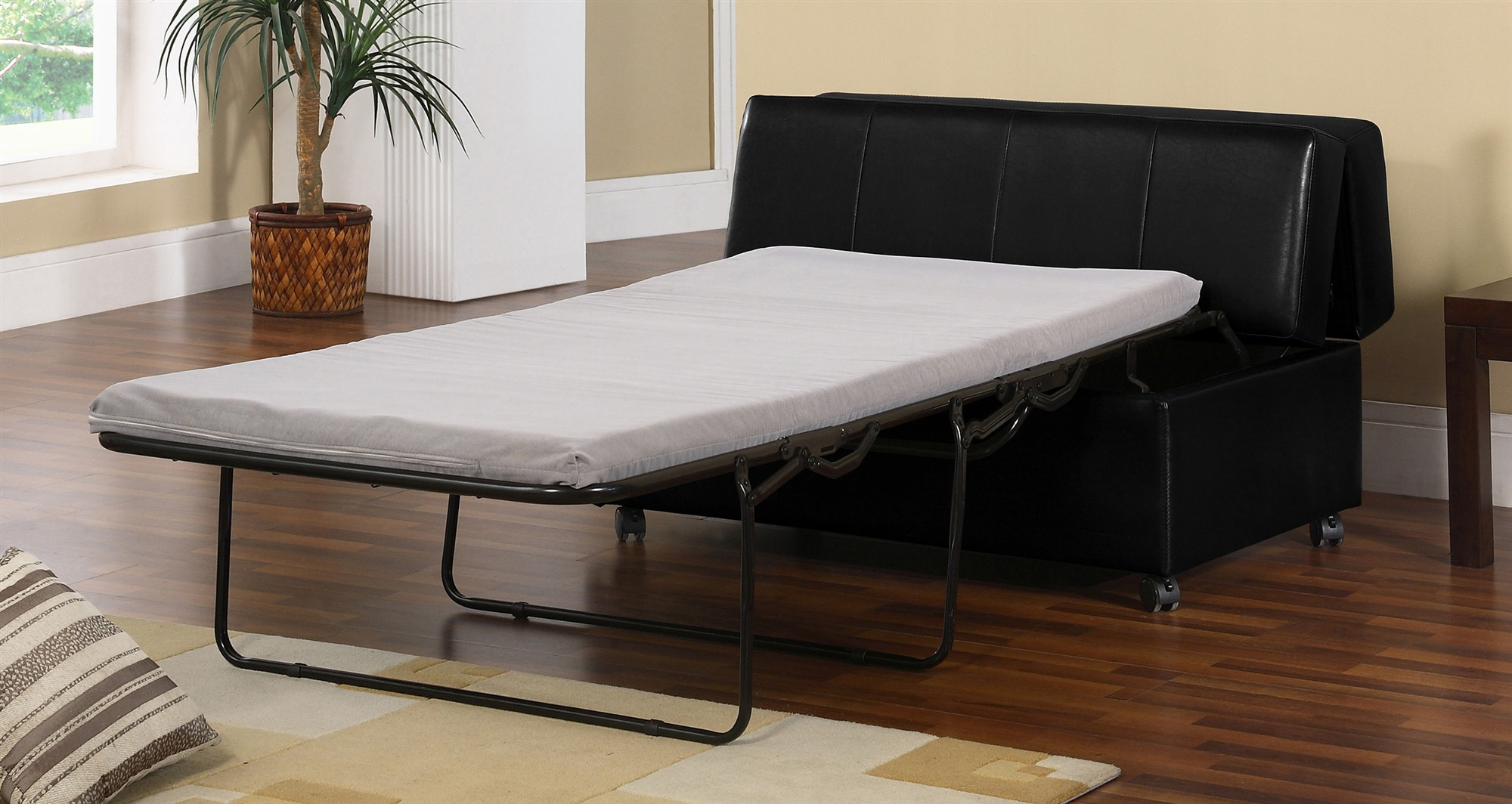 Comfortable Sleeper Cheap Futons In Black And White Theme For Home Furniture Ideas