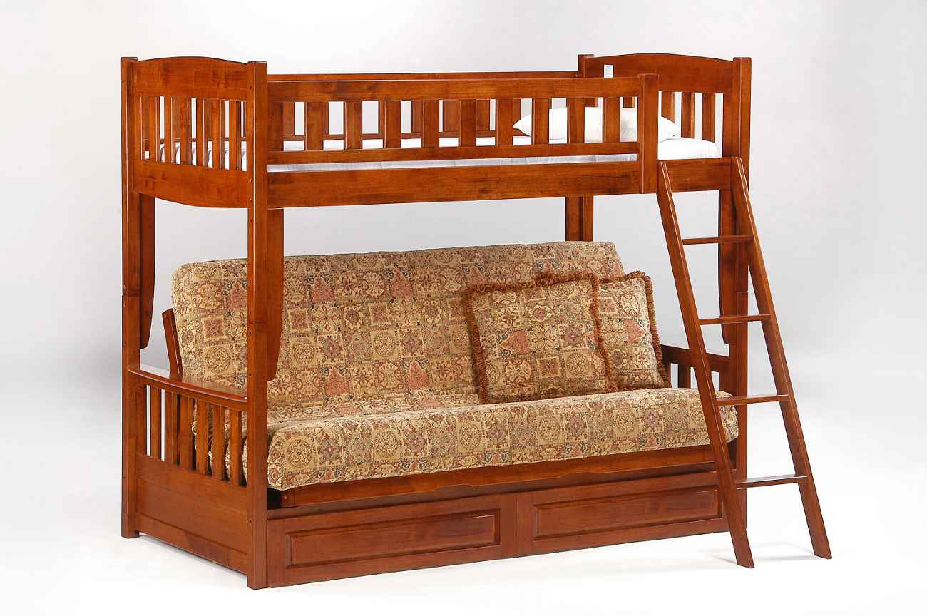 comfortable wooden cheap futons with loft and storage for home furniture ideas