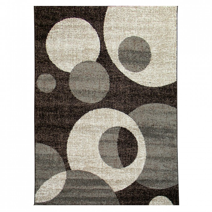 Cool Dark Brown 5x7 Area Rugs With Circles Motif For Floor Decor Ideas