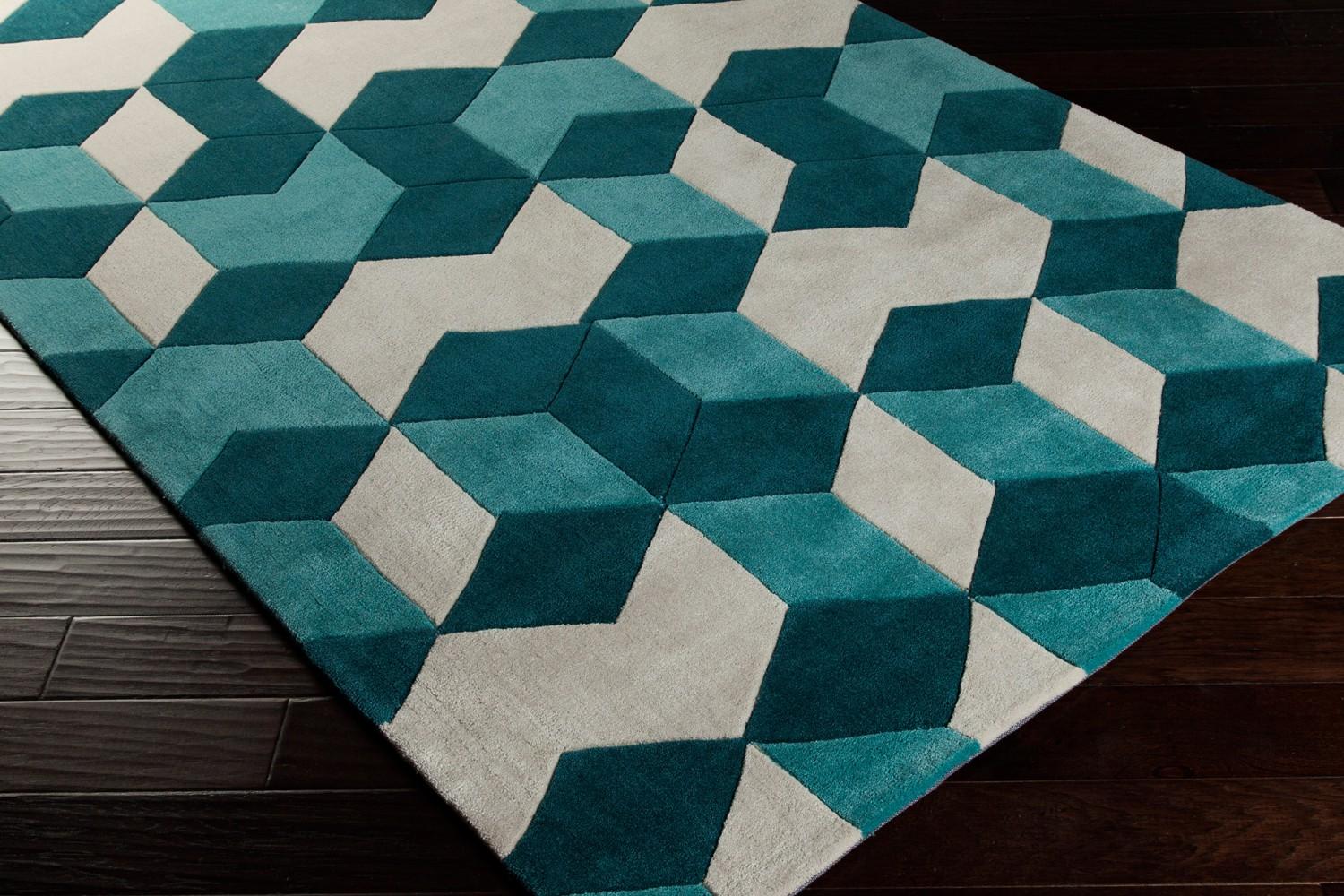 Cosmopolitan COS 9189 Teal Rectangle Surya Rugs In Green For Floor Decor Ideas