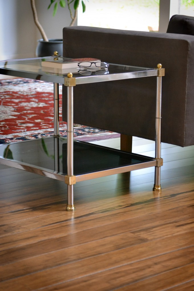 Cozy Table With Double Spaces On Wooden Teragren Flooring For Home Decor Ideas