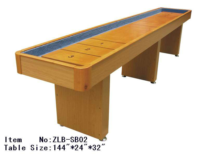 cream wooden shuffleboard table for sale for traditional game