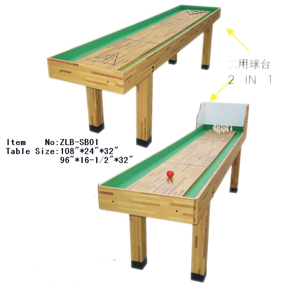 cream wooden shuffleboard table for sale