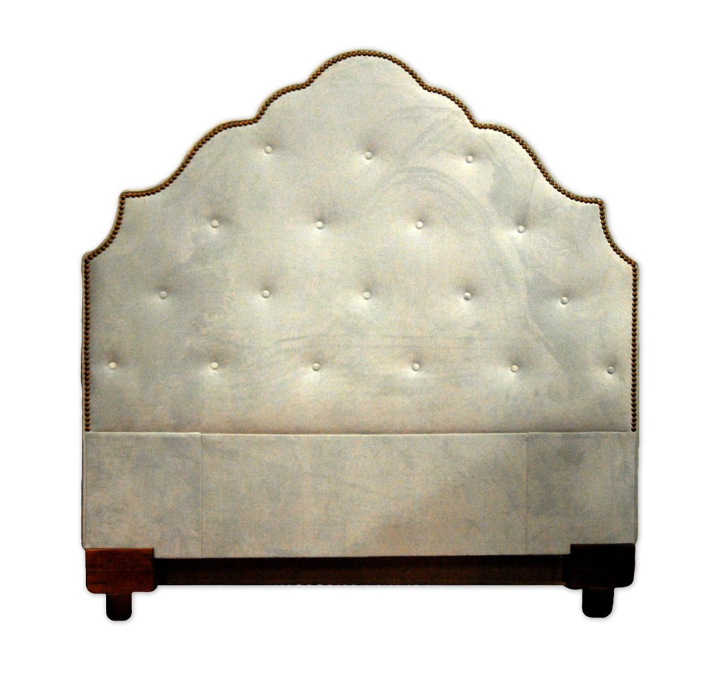 Custom Upholstered Headboards In Beige With Tufted For Bed Ideas