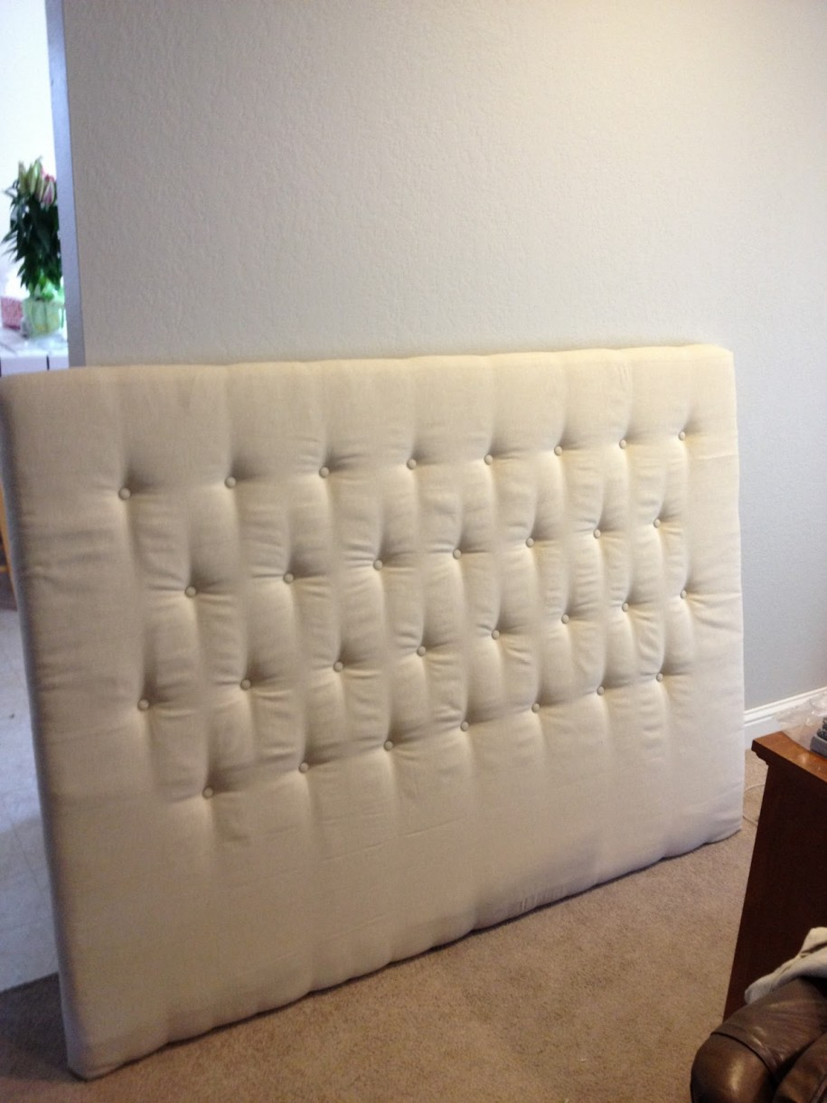 Custom upholstered headboards tufted in white for bed decor ideas