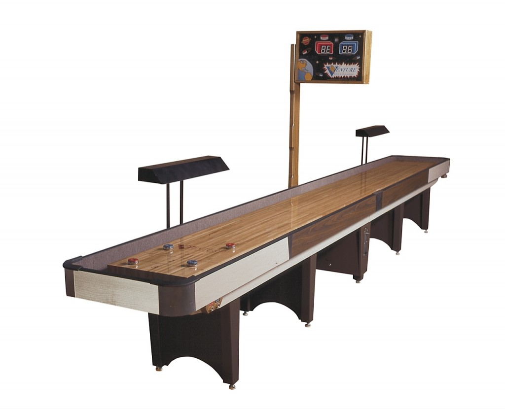 Custom wooden Coin Op and Competition shuffleboard table for sale