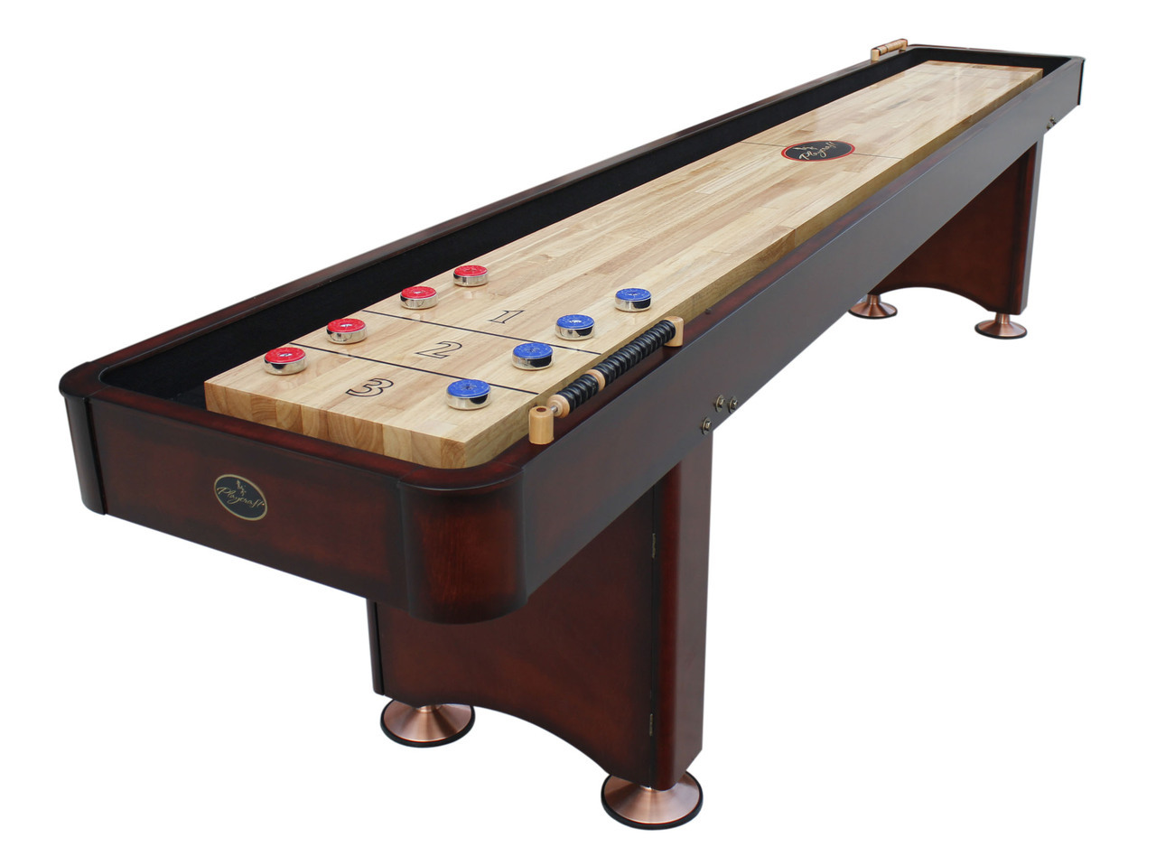 dark brown wooden shuffleboard table for sale