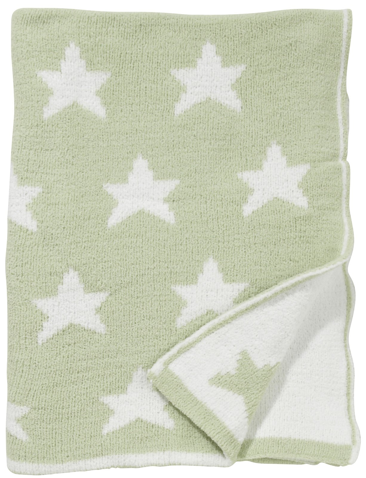 dark sea green Chenille Blanket with star motif for blanket ideas