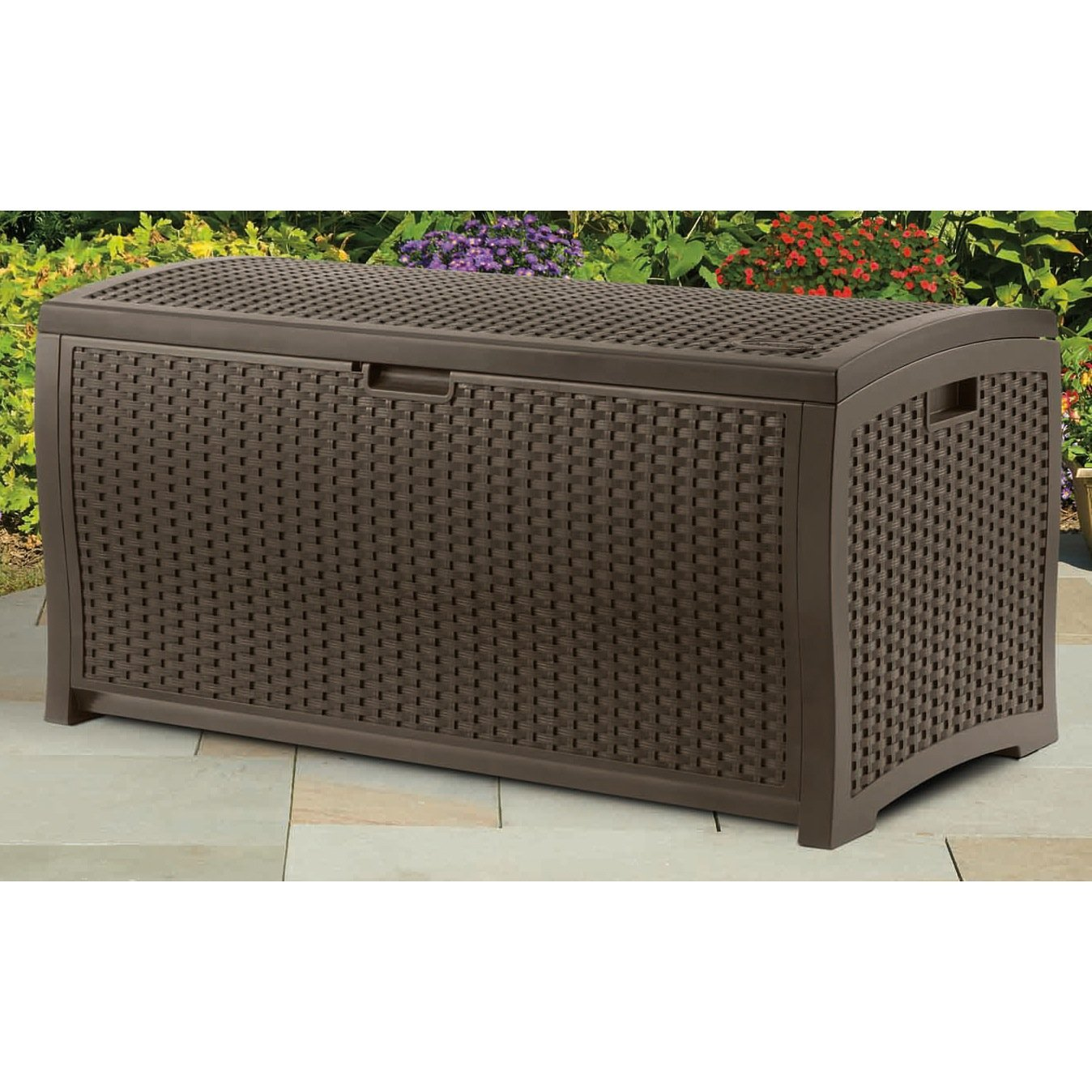 DBW7300 Mocha Wicker Suncast Deck Box Ideas for storage ideas