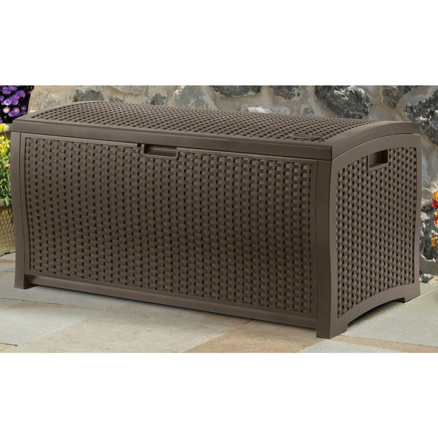DBW9200 Mocha Wicker Suncast Deck Box Ideas for patio furniture ideas