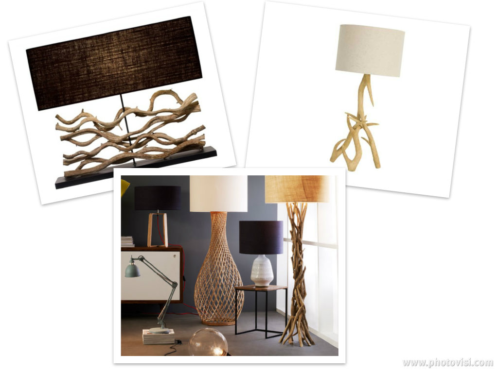 decorative driftwood floor lamp for inspiring home furniture ideas