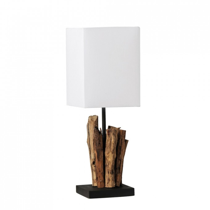 Decorative Driftwood Floor Lamp With White Head For Lighting Ideas