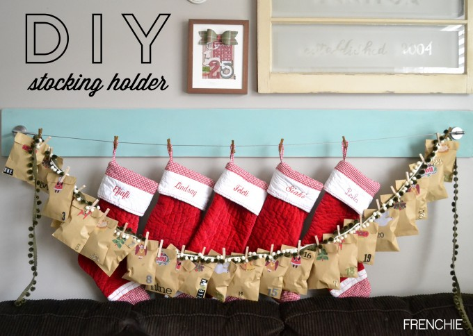 Diy A Simple Christmas Stocking Hanger With A Tail For Christmas Decoration Ideas