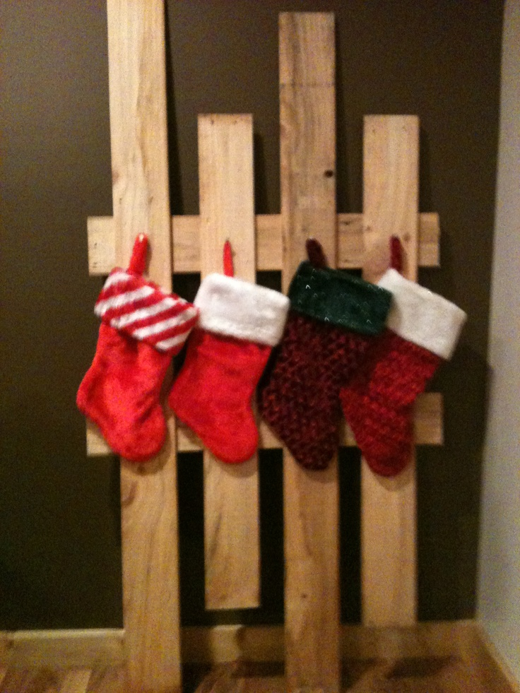 diy christmas stocking hanger made of wood for christmas decoration ideas