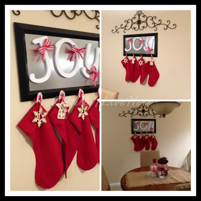Diy Christmas Stocking Hanger Made Of Wood In Frame Design For Christmas Decoration Ideas