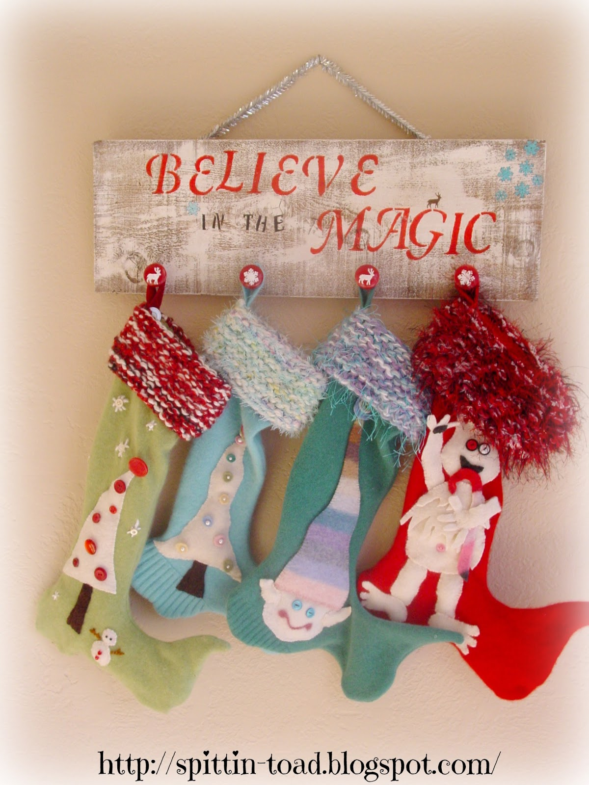Diy Christmas Stocking Hanger With Background Made Of Wood For Christmas Accessories Ideas