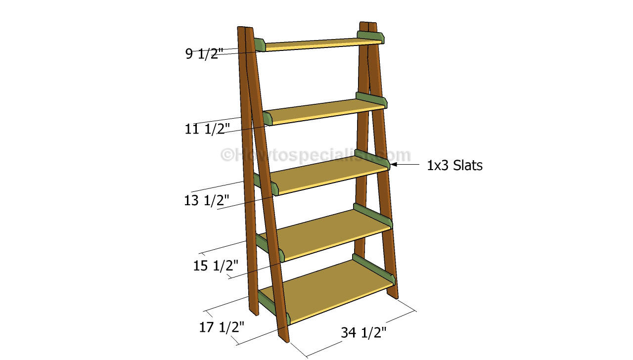 diy wooden ladder bookshelf for home furniture ideas
