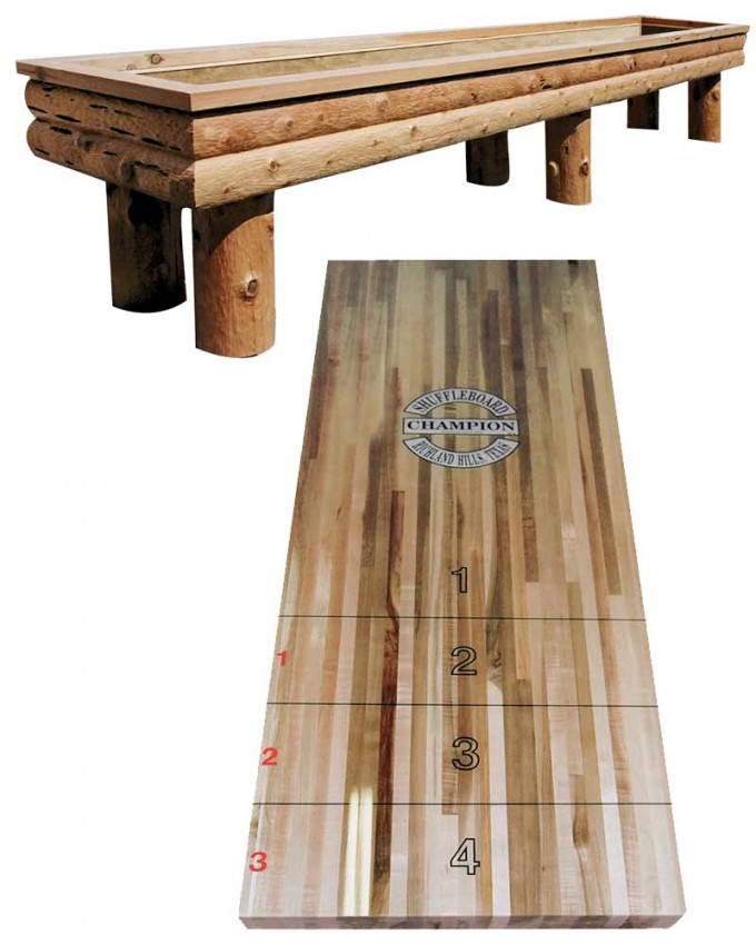 Diy Wooden Shuffleboard Table For Sale